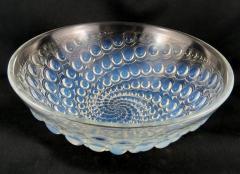 Ren Lalique Lalique Co Rene Lalique Volutes pattern opalescent glass bowl C 1934 - 1495272