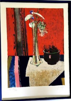 Ren Lenig Ren Lenig Original Handsigned Lithograph Ecole de Paris Circa 1960 - 1076214