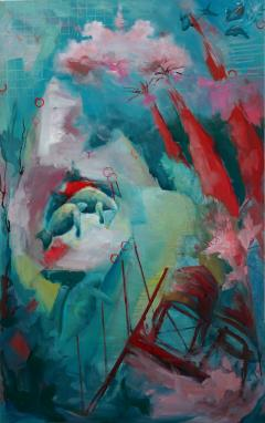 Ren e Rey 23 V Countercurrent Large Contemporary Oil Painting on Canvas by Ren e Rey - 1387064