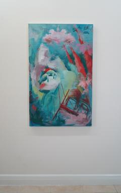 Ren e Rey 23 V Countercurrent Large Contemporary Oil Painting on Canvas by Ren e Rey - 1387094