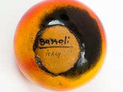 Renato Bassoli Renato Bassoli Large Blood Orange Ceramic Sassi Vase 1950s - 832493