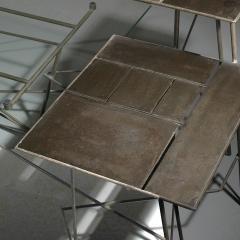 Renato Bassoli Renato Bassoli Welded Steel And Glass Coffee Table - Welded coffee table