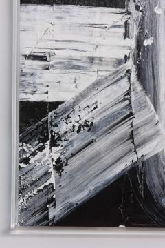 Renato Freitas Original Oil on Linen 2015 Black and White 2  - 61153