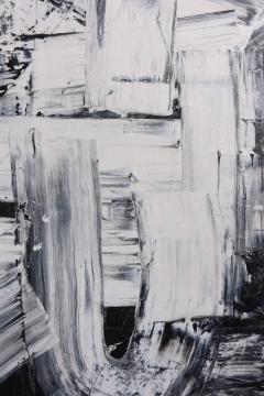 Renato Freitas Original Oil on Linen 2015 Black and White 2  - 61154
