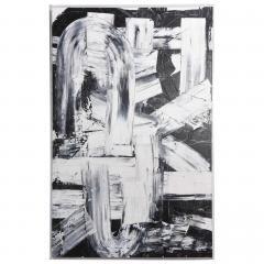 Renato Freitas Original Oil on Linen 2015 Black and White 2  - 61155
