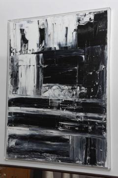 Renato Freitas Original Oil on Linen 2015 Black and White 3  - 61156
