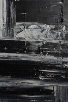 Renato Freitas Original Oil on Linen 2015 Black and White 3  - 61157