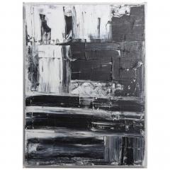 Renato Freitas Original Oil on Linen 2015 Black and White 3  - 61158