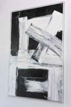 Renato Freitas Original Oil on Linen 2015 black and white 4  - 61160