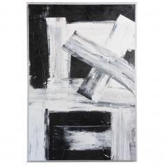 Renato Freitas Original Oil on Linen 2015 black and white 4  - 61162