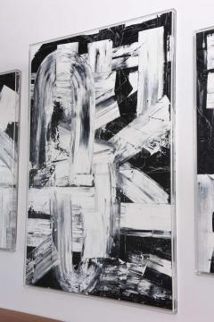 Renato Freitas Renato Freitas Original Oil on Canvas 2015 Black and White Two - 42498