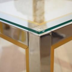 Renato Zevi 1970s Brass and Chrome Pair of Side Coffee Table by Renato Zevi for Romeo Rega - 642698