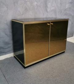 Renato Zevi Buffet Cabinet Brass Mirror by Renato Zevi Italy 1970s - 1481139