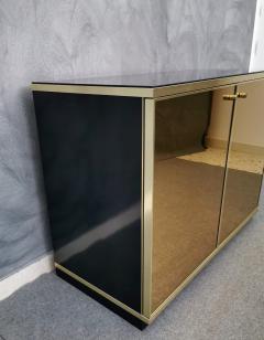Renato Zevi Buffet Cabinet Brass Mirror by Renato Zevi Italy 1970s - 1481140