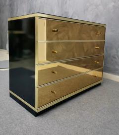 Renato Zevi Chest of Drawers Brass Mirror by Renato Zevi Italy 1970s - 1481133