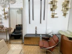 Renato Zevi Large Brass and Metal Chrome Mirror by Renato Zevi Italy 1970s - 1675669