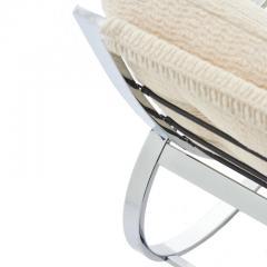 Renato Zevi Mid Century Modern Renato Zevi for Selig Ellipse Chrome Rocking Chair - 1455946