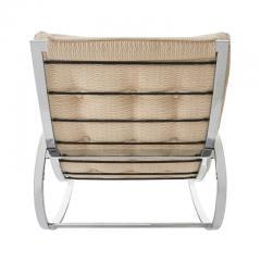 Renato Zevi Mid Century Modern Renato Zevi for Selig Ellipse Chrome Rocking Chair - 1455949