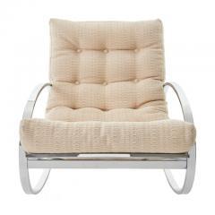Renato Zevi Mid Century Modern Renato Zevi for Selig Ellipse Chrome Rocking Chair - 1455950