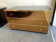 Renato Zevi Pair of Chest of Drawers Brass Mirror by Renato Zevi Italy 1970s - 1063790