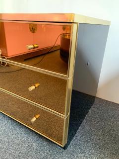 Renato Zevi Pair of Chest of Drawers Brass Mirror by Renato Zevi Italy 1970s - 1063798