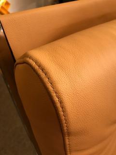 Renato Zevi Pair of Rocking Lounge Chair Metal Leather by Renato Zevi Italy 1970s - 776898