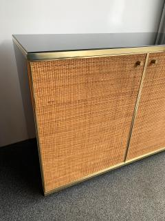 Renato Zevi Rattan and Brass Buffet by Renato Zevi Italy 1970s - 1397133