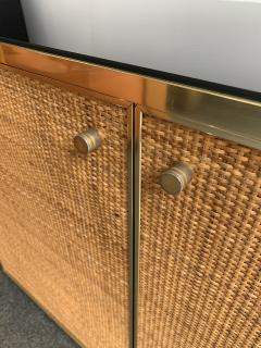 Renato Zevi Rattan and Brass Buffet by Renato Zevi Italy 1970s - 1397139