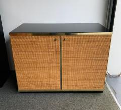 Renato Zevi Rattan and Brass Buffet by Renato Zevi Italy 1970s - 1397140