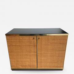 Renato Zevi Rattan and Brass Buffet by Renato Zevi Italy 1970s - 1400299