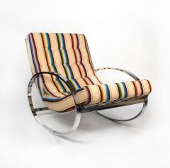 Renato Zevi Rocking Lounge Chair and Ottoman by Renato Zevi - 1201990