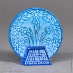 Rene Lalique A Bleu Glass Letter Seal By R Lalique Made In 1912 - 1414250