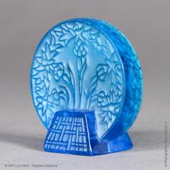 Rene Lalique A Bleu Glass Letter Seal By R Lalique Made In 1912 - 1414251