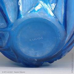 Rene Lalique A R Lalique Bleu Electric Grasshoppers 1912 Vase - 1414255