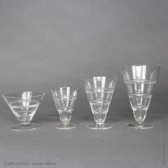 Rene Lalique As Vouvray Set Of Glasses Designed By R Lalique In 1932 - 1425697