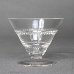 Rene Lalique As Vouvray Set Of Glasses Designed By R Lalique In 1932 - 1425715