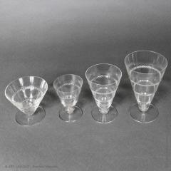 Rene Lalique As Vouvray Set Of Glasses Designed By R Lalique In 1932 - 1425716
