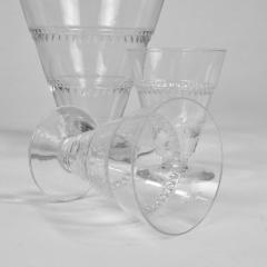 Rene Lalique Lalique Vouvray Crystal Decanter and Six Matching Liqueur Glasses - 1153352