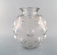 Rene Lalique Large and early rare Antilopes vase in art glass with leaping antelopes - 1422972