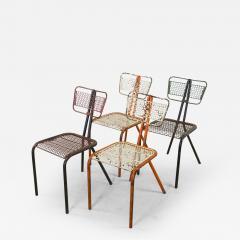 Rene Malaval Rare Set of Four Rene Malaval Radar Chairs - 259343