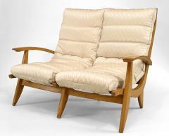 Rene Melin French 1950s Beechwood 3 Piece Salon Set - 424888