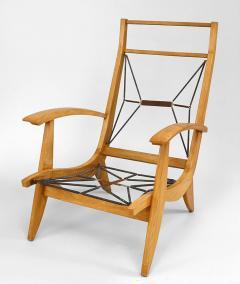Rene Melin French 1950s Beechwood 3 Piece Salon Set - 424892