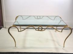 Rene Prou EXQUISITE RENE PROU GILT IRON COFFEE TABLE - 1110222