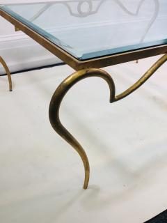 Rene Prou EXQUISITE RENE PROU GILT IRON COFFEE TABLE - 1110223