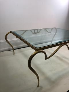 Rene Prou EXQUISITE RENE PROU GILT IRON COFFEE TABLE - 1110226