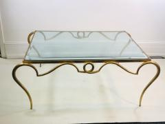 Rene Prou EXQUISITE RENE PROU GILT IRON COFFEE TABLE - 1110227