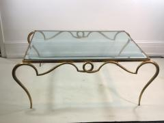 Rene Prou EXQUISITE RENE PROU GILT IRON COFFEE TABLE - 1110228