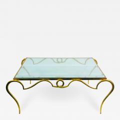 Rene Prou EXQUISITE RENE PROU GILT IRON COFFEE TABLE - 1110429