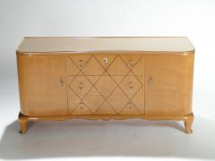 Rene Prou Mid century Ren Prou sycamore brass sideboard commode 1940s - 983630