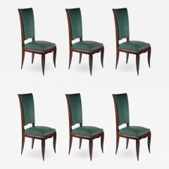 Rene Prou Rene Prou Fine Set of Six Dining Chairs - 1549848